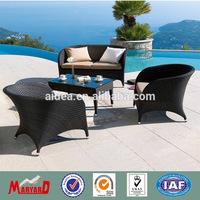 curved outdoor furniture+rattan wicker restaurant outdoor furniture