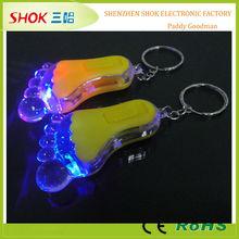 China factory led flashing hockey keychains