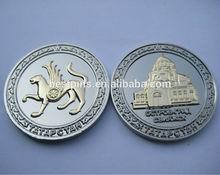 3D mascot metal coins, Russia souvenir building coins