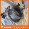 XUANDA doubled flanged concentric disc butterfly valve drawing