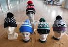 Warm Acrylic Winter Ski Knitted Beanie Hat Pattern