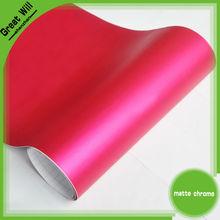 High value Matte chrome vinyl wrap orange color for auto changing