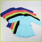 2014 new style long sleeve cute girls dress wholesale cheap winter dress
