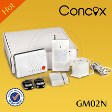 Mobile call gsm alarm system GM02N gsm sms control unit with SMS message alert & auto calling