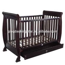 modern sleigh wooden baby crib