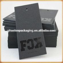 cardboard thick black tag,matt gold hot stamping foil swing tags,spot uv logo hangtags