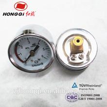 "HongQi 40mm 1.5"" electroplating case,plating connectors pressure meter"