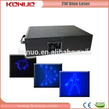 2W Blue Animation laser stage light