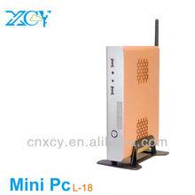 High Performance thin client Desktop computers mini pc L-18 CPU Intel N270 Atom 1GB RAM 16GB SSD support 1080p display and video