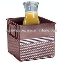 Copper Square Hammered Beverage Tub