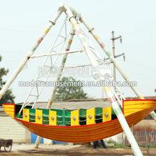 Outdoor children game amusement mini pirate ship