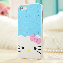 pc back cover phone case for iphone 5 with aluminum cd grain