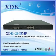 8 port 10/100/1000 Mbps POE switch web managed Ethernet switches