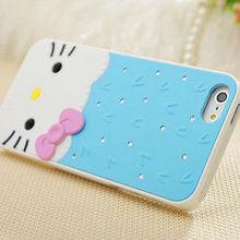 eileen heart style rhinestone inlaid hard case for iphone 5