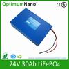 deep cycle high performance 32650 cell 24v 30ah lifepo4 battery