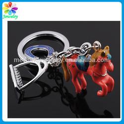 Gallop Horse Flying Red Enamel Keychain Bottle Opener Animal Charm Horse Bottle Opener Keychain