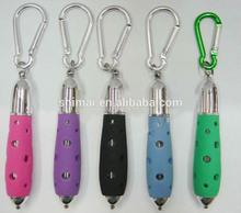 LED light ballpen with carabiner