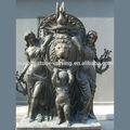 mármore esculpido cabeça de leão de parede fonte wf38