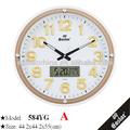 زجاج ساعة رقمية مع تاريخ والأسبوع( الزجاج طباعة الشاشة الحريرية، أرقام مضيئة واليدين، اكتساح حركة)
