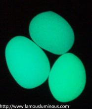 glow poly resin pebble stone
