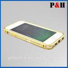 Luxury Rhinestone Diamond Bling Metal cell phone Case for iphone 5