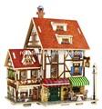 la fabricación de los niños populares de juguete diy 3d juguete de madera francia la casa de cafetería