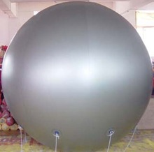big silver colour Helium Balloon for advertising
