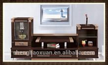 Latest Design Wooden Furniture Lcd Floor TV Stands LCD TV Floor Mount Stand