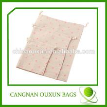 Stylish small calico bag with drawstring