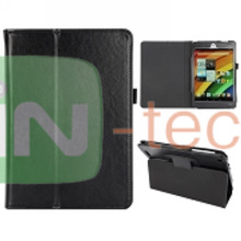 Wholesale! Crazy Horse Texture Pattern Design Foldable Flip Stand Leather Case for Acer Iconia A1830