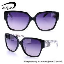 Thick Frame acetate vogue polarized sunglasses