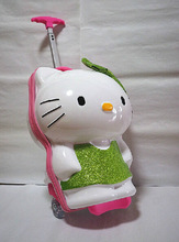 NEW Fashion Hello Kitty 16 inch Luggage 3D Kids Carry Case Trolley Bag Travel