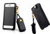 Long Neck Strap Rope PU Leather Pouch Case For iPhone 5S