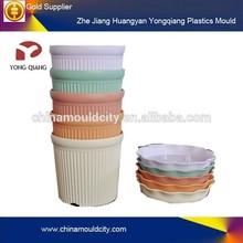 Color flower pot plastic injection mould/flower pot molds manufacturing
