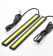 COB LED DRL Daylight 2 pcs Set Waterproof Aluminum High Power Light Lamp For Car