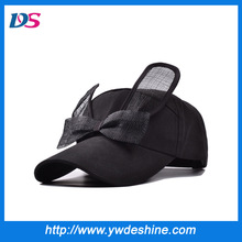 wholesale sweet bow rabbit ears lace baseball hat MZ1003