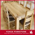 Venta directa de fábrica de centro de venta al por mayor caliente de la venta de comedor furnirture de roble de madera maciza mesas y sillas