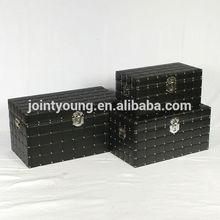 modern faux leather storage trunk