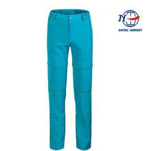 OEM 2012 new arrival hot sale softshell winter blue women outdoor pants