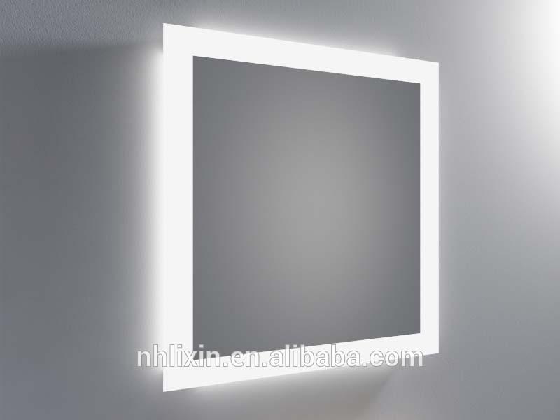 mirror behind bathroom mirror light backlit mirror for bathroom