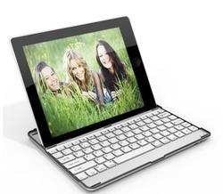 black white Aluminum Bluetooth Wireless Keyboard Case Cover for Apple New iPad 4 3 2+bluetooth wireless keyboard