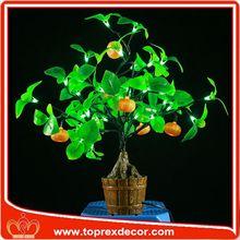 Halloween LED artificial orange tree charcoal