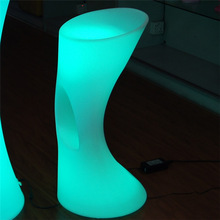 elegant LED night club 16 color emitting stool chair with remote and rechargeable battery