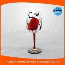 Hand Blown Halloween Crystal wine glass