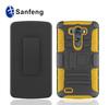 For phone case LG optimus G3 D950 combo holster belt clip cover ;black pc belit clip OEM mobile phone cover for LG G3