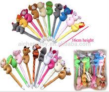 cute plush animal toys pen for promotion