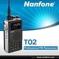 Nanfonet02uhf/dualbandvhfมืออาชีพเครื่องส่งรับวิทยุfm