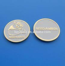 need a wash enamel white color souvenir coin, animal mascot coin