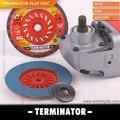 Terminator pegatec 4.5'' t27 rápido cambio de disco de la aleta para pulidora de acero inoxidable de nuevo producto