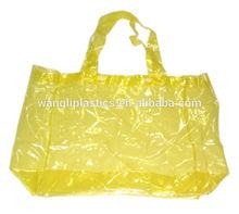 High quality transparent tote bag sturdy PVC girls beach tote bag